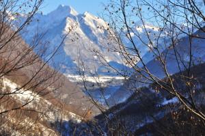 La Valle dell'Alto Isonzo vista dalla Valle dell'Uccea