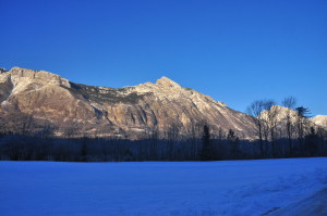 Monte Rombon da cui le artiglierie austro-ungariche martellavano le trincee italiane nell'Alta Valle dell'Isonzo a Plezzo