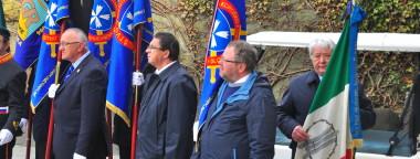 La bandiera dell'ANMIG alla cerimonia funebre a Lubiana
