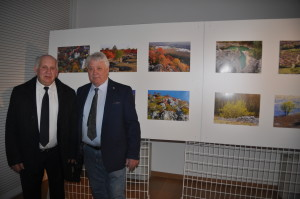 Il fotografo Carlo Ferletic ed il Presidente dell'ANMIG di Monfalcone Ermando Ferletic