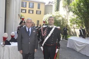 Il Presidente Vignati con il   Maestro della Banda dei Carabinieri