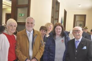 con il Presidente Nazionale dell'A.N.M.I.G. cav. prof. Claudio Betti ed il Vice Presidente comm. dott. Michele Montagano