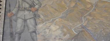 Dalla Casa Madre di Roma dell'ANMIG la situazione rappresentata nell'affresco di Santagata dell'agosto del 1917