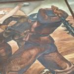 Immagine tratta dall'affresco di Santagata nella Casa Madre ANMIG Roma - attacco degli Arditi contro i difensori del Monte Cucco - Medio Isonzo