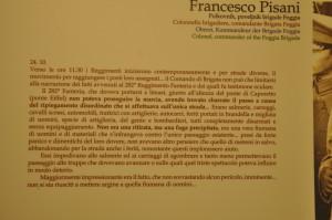 Documento di un testimone fotografato all'interno del Museo di Caporetto