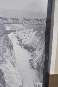 Il ponte sull'Isonzo a Caporetto costruito dagli italiani nel 1915 e fatto saltare alle ore 16 del 24 ottobre 1917