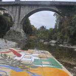 Ponte del Diavolo di Cividale visto dal letto del Natisone fatto saltare dai genieri italiani in data 28 ottobre 1917