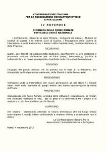 MANIFESTO IV NOVEMBRE 2017