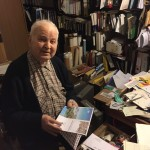 Lino Felician nel suo studio a Trieste