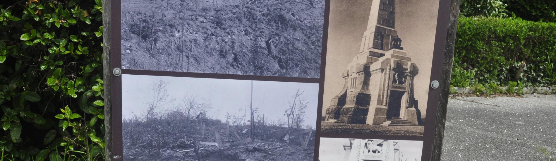 Ricordo del Monumento non più presente sul Monte San Marco ora in Slovenia
