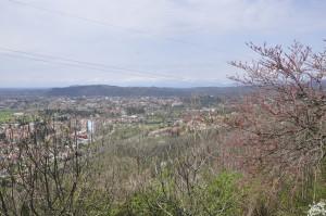 Panorama dal Monte San Marco di Gorizia con sullo sfondo il Monte Calvario