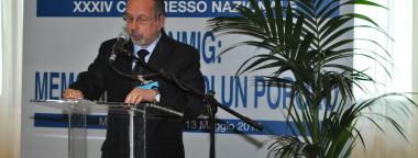 Il presidente dell'ANMIG di Sessa Aurunca, signor Marcello De Stasio al 34 congresso nazionale
