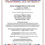 Locandina Processo Europa 2019